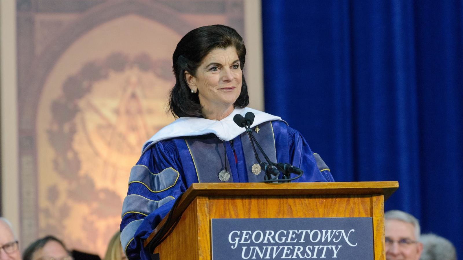 Luci Baines Johnson (NHS'69, H'18) was the 2018 commencement speaker for the Georgetown University School of Nursing and Health Studies.